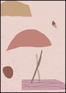 Abstract Art - Pink Plakat