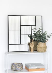 KAILA Spejl Asymetric - Sort 70x70 cm