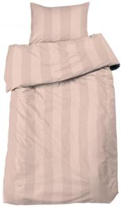 Sengesæt Big Stripe Satin 2-delt - Peach