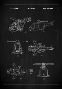 Patent Print - Lego Helicopter - Black Plakat
