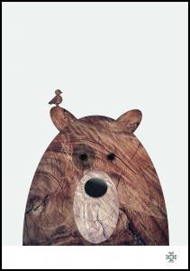 Wood bear Plakat