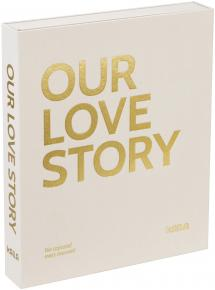 KAILA OUR LOVE STORY Creme - Coffee Table Photo Album (60 Sorte Sidere)