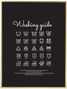 Washing guide - Black Plakat
