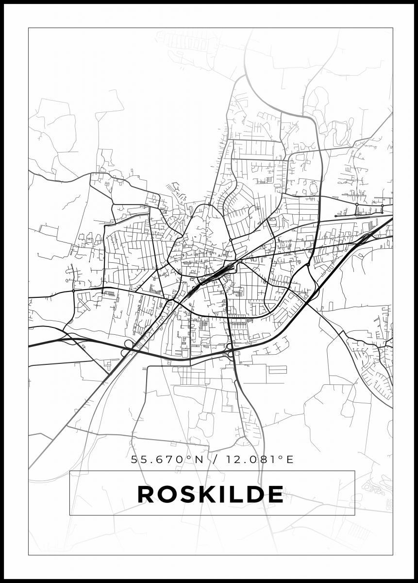 Kort Roskilde Hvid Bga Dk