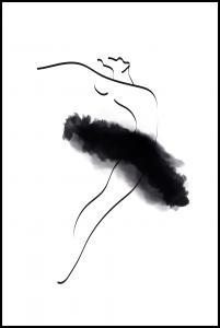 Ballerina Thin Lines Plakat