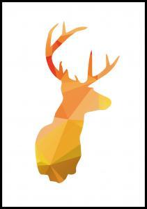 Deer - efterårsfarver Plakat