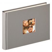 Fun Design Grå - 22x16 cm (40 Hvide sider / 20 blade)