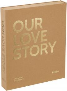 KAILA OUR LOVE STORY Manilla - Coffee Table Photo Album (60 Sorte Sidere)