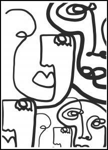 Graphic Faces II Plakat