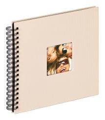 Fun Spiralalbum Sand - 26x25 cm (40 Sorte sider / 20 blade)