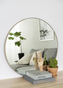 Spejl Vendela Messing 80 cm Ø