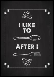 I like to spoon after i fork Plakat