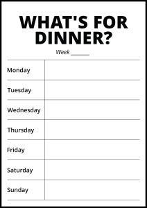 Whats For Dinner II - White Plakat