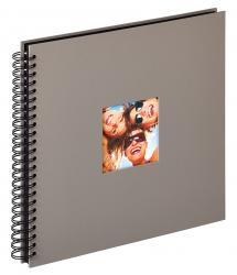 Fun Spiralalbum Grå - 30x30 cm (50 Sorte sider / 25 blade)