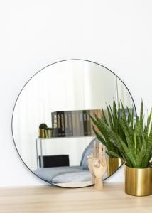 KAILA Round Mirror - Thin Black 70 cm Ø