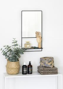 KAILA Spejl med hylde - Sort 31x60 cm