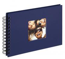 Fun Spiralalbum Blå - 23x17 cm (40 Sorte sider / 20 blade)