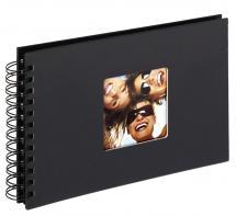 Fun Spiralalbum Sort - 23x17 cm (40 Sorte sider / 20 blade)