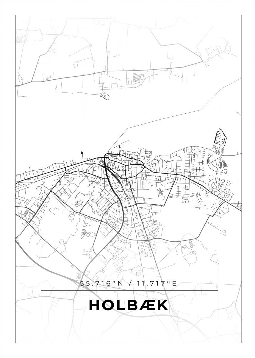 Kort Holbaek Hvid Bga Dk