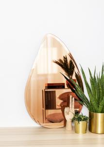 KAILA Spejl Deluxe Drop Rose Gold 45x70 cm