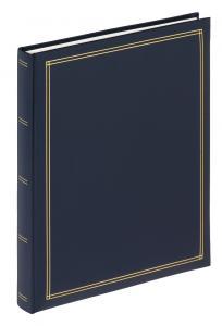 Monza Album selvhæftende Blå - 25x30 cm (30 Hvide sider / 15 blade)