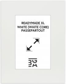 Passepartout XL Hvid (Hvid kerne) 50x60 cm (28,7x41 - A3)