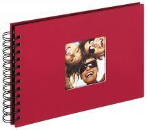 Fun Spiralalbum Rød - 23x17 cm (40 Sorte sider / 20 blade)