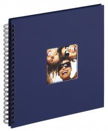 Fun Spiralalbum Blå - 30x30 cm (50 Sorte sider / 25 blade)