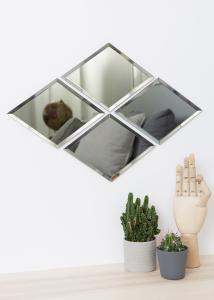Spejl House Doctor Diamond Grå 16x22 cm