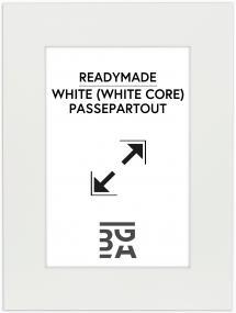 Passepartout Hvid (Hvid kerne) 60x80 cm (49x69)