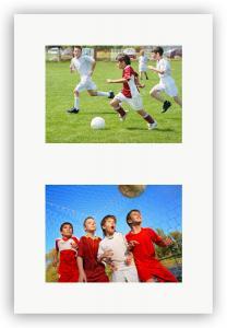 Collagepassepartout Hvid 2 Billeder - Målbestilt (hvid midte)