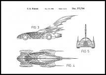 Patenttegning - Batman - Batmobile 1996 II Plakat