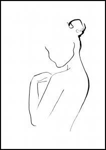 Woman In Ink Plakat