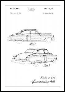 Patenttegning - Cadillac I Plakat