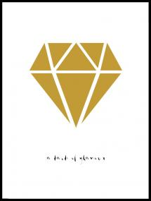 Diamant - Guld Plakat