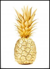 Gold Pineapple Plakat