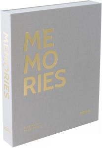 KAILA MEMORIES Grey - Coffee Table Photo Album (60 Sorte Sider / 30 Blade)