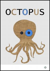 Fabric octopus Plakat