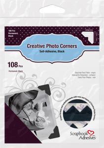 3L Creative Photo Corners Sort - 108 stk