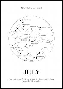 Monthly star July Plakat