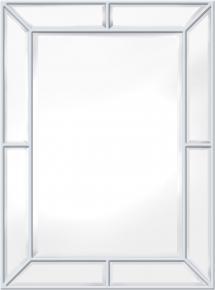 Spejl Pimlico Glass Panelled Wood Misty Hvid 79x112 cm
