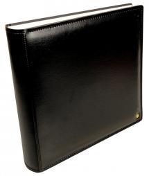 Henzo Gran Cara Premium Fotoalbum - Sort - 31x33 cm (100 Hvide sider / 50 blade)