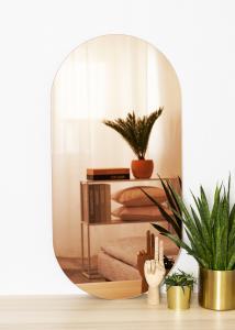 KAILA Spejl Oval Rose Gold 50x100 cm