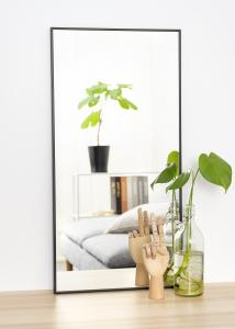 Spejl Narrow Sort 40x80 cm