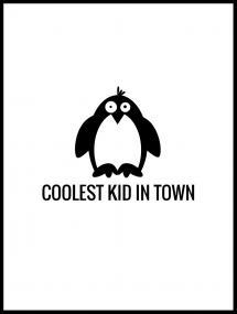 Pingvin Cool Plakat