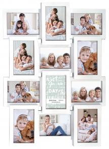 Multiple frame white Collageramme - 12 Billeder