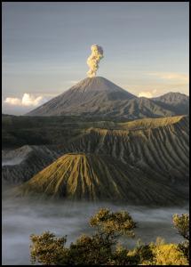 Green volcano Plakat