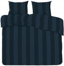 Sengesæt Big Stripe Satin Kingsize 3-delt - Marine