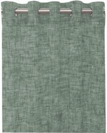 Gardin med sejlringe Wayne - Mellemgrøn 2-pak