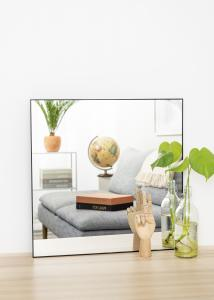 KAILA Square Mirror - Thin Black 60x60 cm